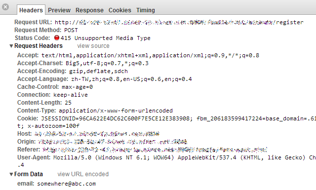 Unsupported Media Type